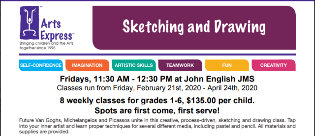 arts express sketching and drawing